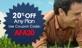 20% off any plan.  Use Coupon Code: AFA20